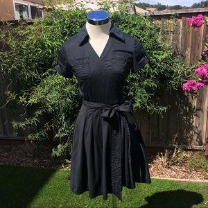 Banana Republic Black Wrap Dress Like New Size 2